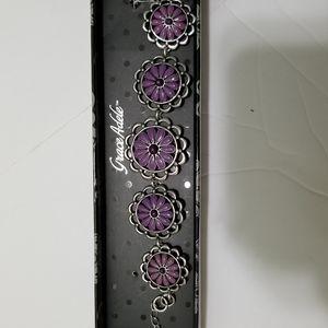 NIB Grace Adele purple bracelet